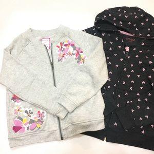 Gymboree zipper sweater and Cat & Jack sweater
